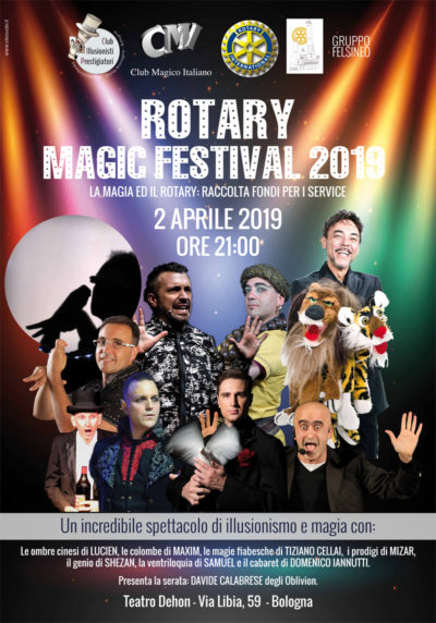 2 aprile teatro dehon bologna magia rotary